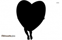 Cupid And Heart Silhouette Icon