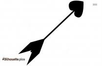 Cupid Arrow Love Silhouette