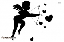 Cupid Boy Silhouette Clipart