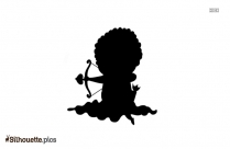 Cupid Girl Silhouette Image And Vector