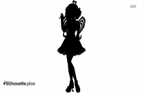 Cupid With Bow Silhouette