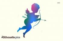 Cupid Silhouette Bow Arrow Image