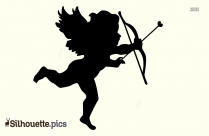 Cupid Silhouette Flying