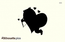 Cupid Silhouette Heart