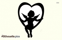 Cupid Silhouette Heart Drawing