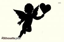 Cupid Silhouette Love