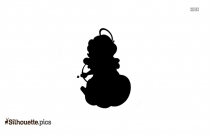 Cupid Girl Silhouette Vector