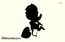 Cupid Silhouette Transparent Background