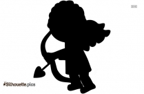 Cupid Valentine Silhouette Vector And Graphics