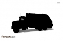 Curbside Recycling Truck Silhouette Image
