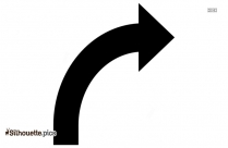 Curve Right Arrow Silhouette
