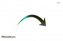 Curved Arrow Design Silhouette