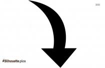Drop Down Arrow Silhouette