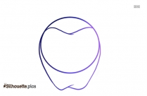 Curved Oval Shape Silhouette Image