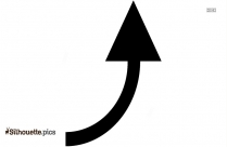 Curved Up Arrow Silhouette Clip Art Image