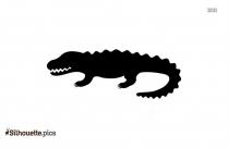 Crocodile Gator Alligator Silhouette