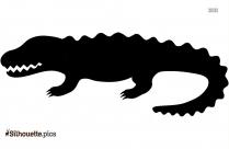 Crocodile Silhouette Clipart