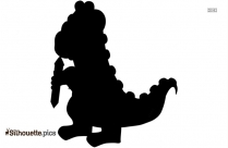 Cute Bear Silhouette Clip Art