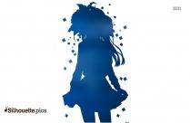 Cute And Beautiful Anime Girl Silhouette