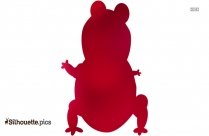 Cute Animated Frogs Silhouette