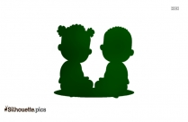 Baby Girl Child Vector Silhouette Image