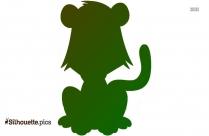 Cartoon Monkey Silhouette Free Vector Art