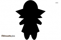 Black And White Baby Doll Silhouette