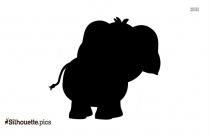 Cartoon Elephant Silhouette Image And Vector