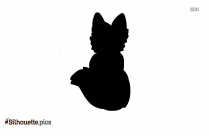 Cute Baby Fox Silhouette Picture