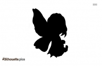 Cartoon Winged Fairy Silhouette Image