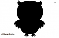 Cartoon Baby Owl Silhouette