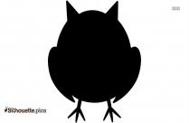 Cute Baby Owl Silhouette Free Vector Art