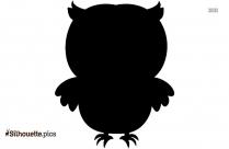 Black Summer Owl Silhouette Image