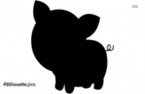 Cartoon Tea Cup Pig Silhouette