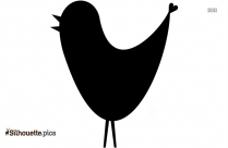 Cute Bird Flying Clipart Silhouette