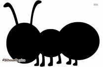 Cartoon Ant Drawing Vector Silhouette Image