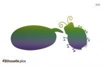 Cute Bug Chat Drawing Silhouette