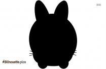 Cute Bunny Clipart, Silhouette