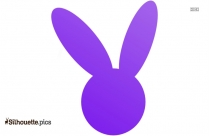 Easter Bunny Silhouette, Vector
