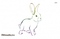Rabbit Clip Art, Silhouette Image