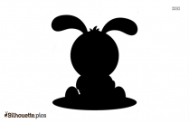 Easter Bunny With Eggs And Grass Silhouette Picture