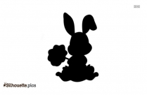 Fat Kawaii Bunny Sticker Silhouette