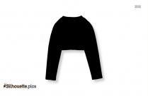 Cute Cardigans For Girls Clip Art Silhouette Image