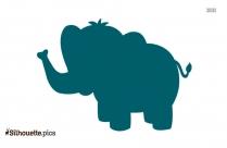 Cute Cartoon Baby Elephant Silhouette Image