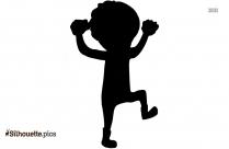 Cute Cartoon Boy Scared Silhouette