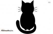 Free Cartoon Cat Sitting Silhouette Image