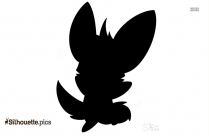 Cartoon Character Silhouette Vector