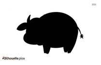 Walk Dog Cartoon Logo Silhouette For Download