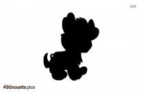 Cute Cartoon Dog Silhouette Art