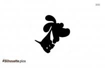 Cute Cartoon Dog Silhouette Clip Art